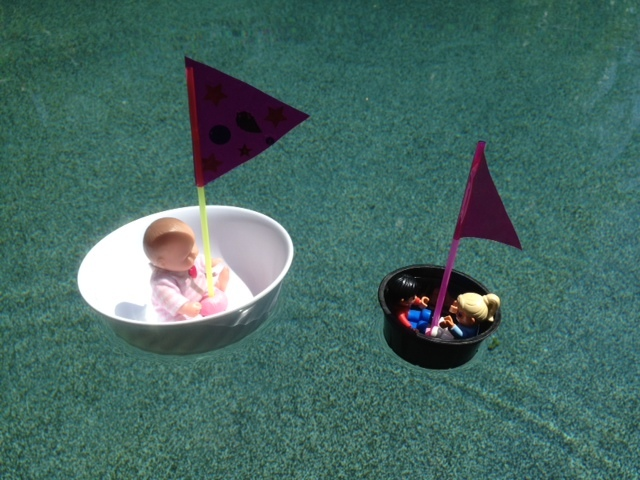 floating boat completed, kids craft boat, tub boat ready to sail, toy boat for bath, kids craft boat bath pool  - Floating Boats