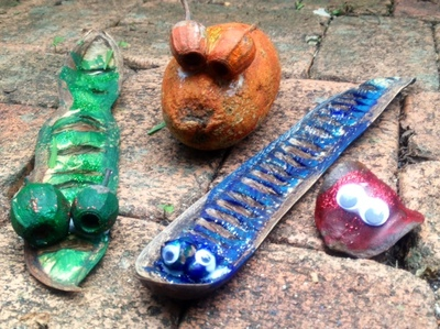 seed pod creature kids craft homemade