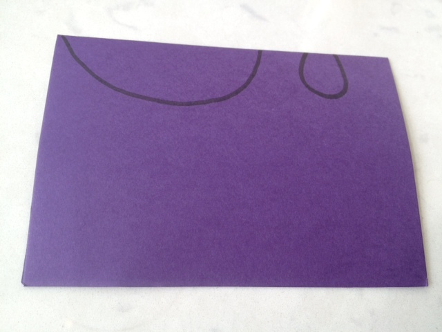 shape for mouse, mouse template, mouse outline on paper  - 3D Mouse Place Card