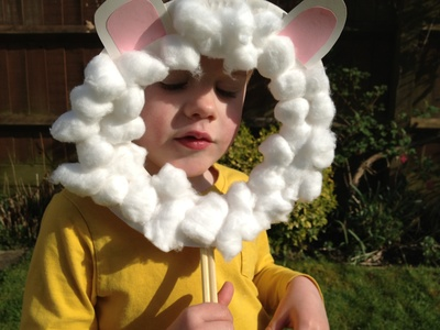 Sheep, lamb, mask, preschool
