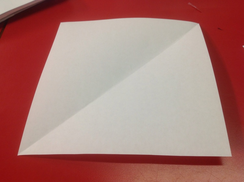 how to cut paper into squares