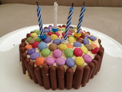 Smartie, birthday cake, easy, decoration