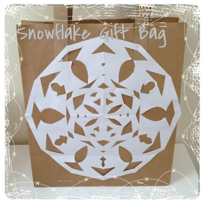 Snowflake, wrapping, Christmas, gift bag