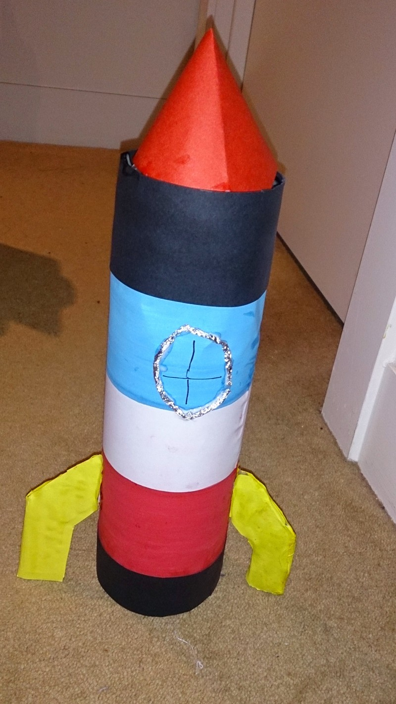 Recycled bottle rocket my kid craft for Easy recycling ideas