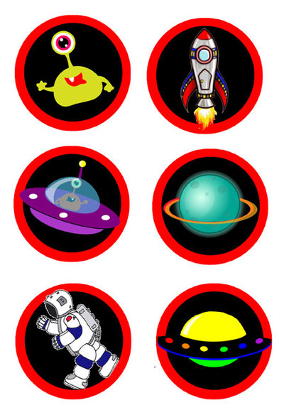space,stickers,printables