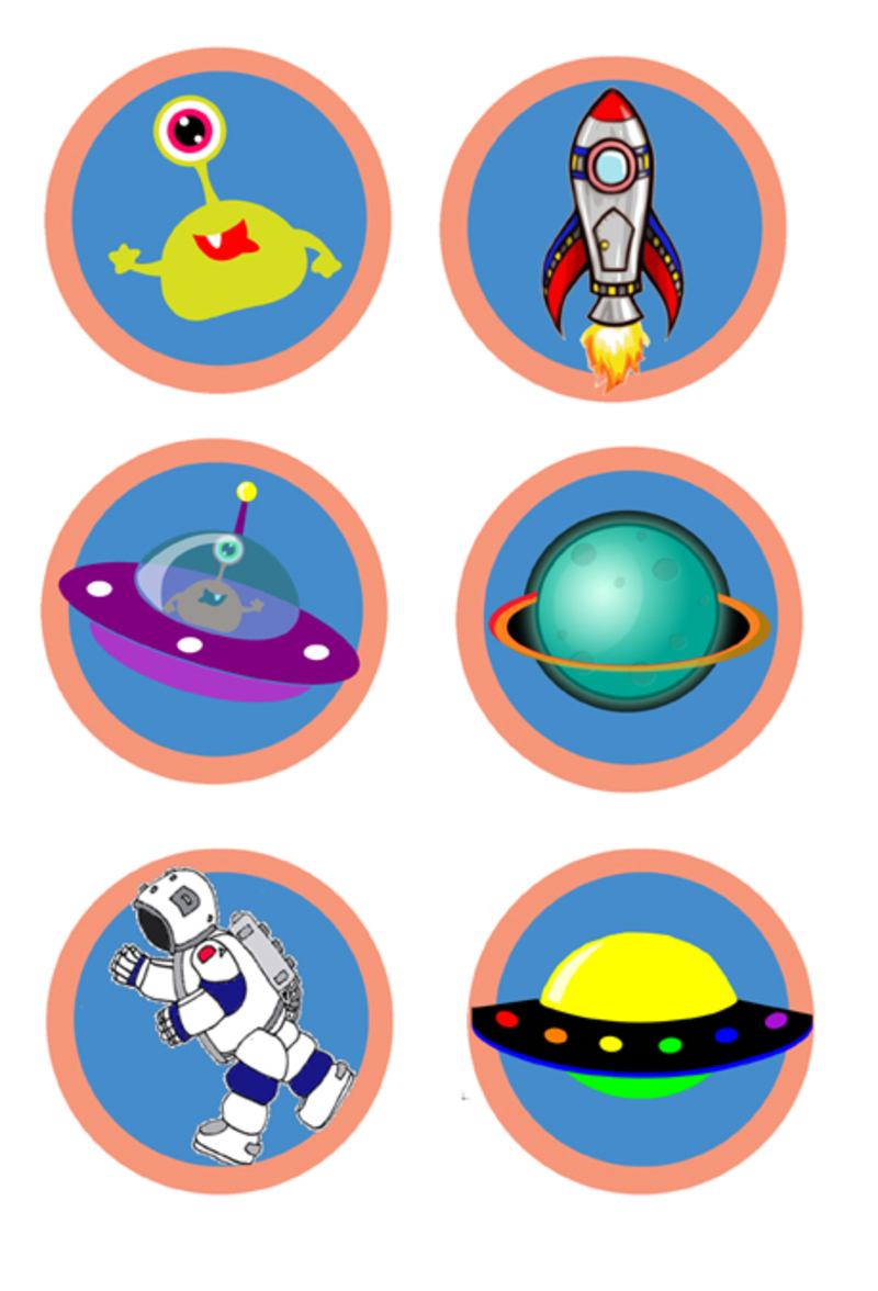 photograph relating to Space Printable identified as location,stickers,printables - Printable Spot Discs - Picture 2