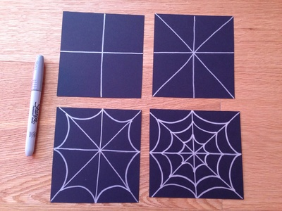 Spider web party invite, spider web card, Halloween party invite, witch party invite, spider web craft