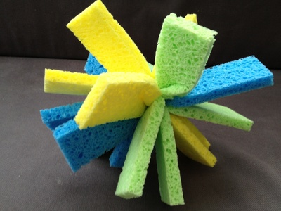 Sponge, water bomb, preschool, summer activity