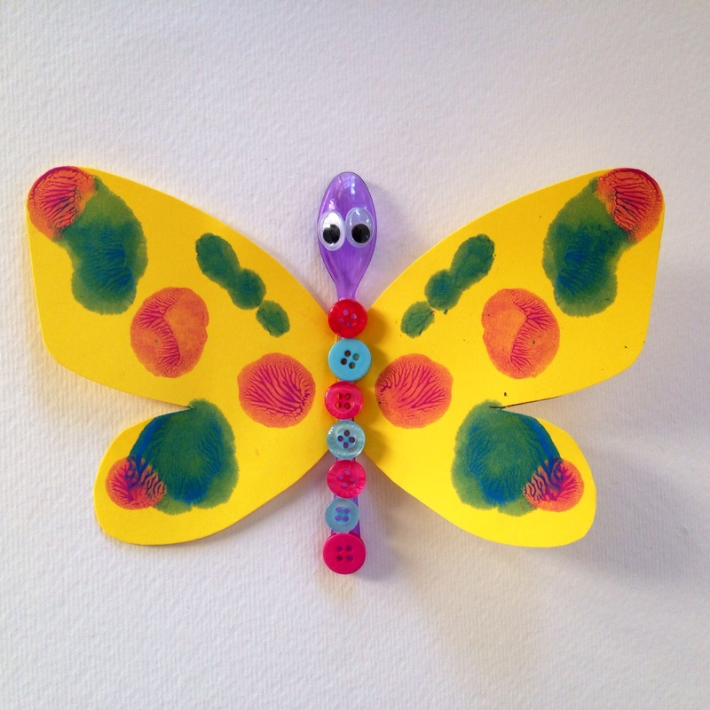 Attractive Butterfly Craft Ideas For Kids Part - 8: Spoon Button Butterfly
