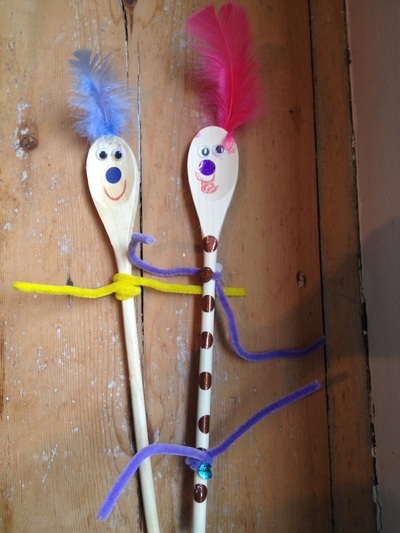 Spoon, wooden, puppet, people, craft