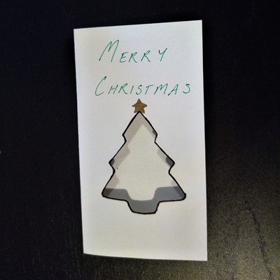 Stained Glass Tree Christmas Card