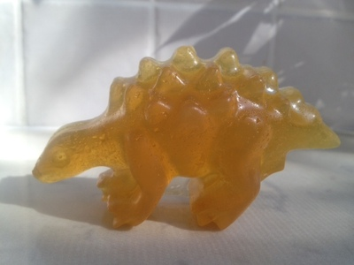stegosaurus soap, dinosaur soap, homemade soap, DIY soap tutorial, mold your own soap, melt and mold soap, novelty soap, kids soap, homemade soap tutorial
