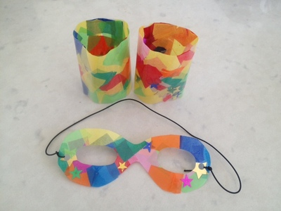 superhero mask and wrist cuffs, superhero costume, preschooler superhero costume, easy superhero mask, easy masquerade mask