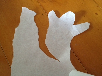 freezer paper, translucent paper, ghost baking paper, ghost tracing paper, making a ghost out of paper