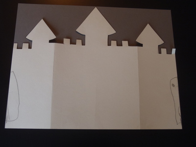 cut out castle template - castle card my kid craft