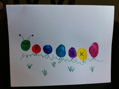 Colourful Caterpillar Card My Kid Craft