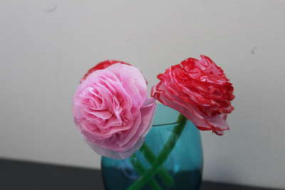 tissue paper flowers, mothers day, craft flowers, tissue paper crafts