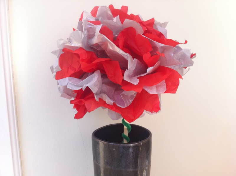 Tissue paper pom pom flower my kid craft mightylinksfo