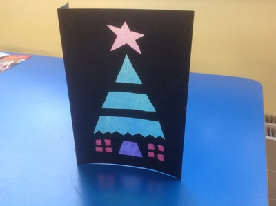 Stained Glass Window Christmas Card My Kid Craft