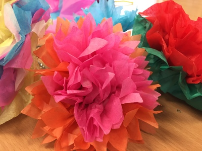 Tissue, flowers, Mother's Day craft