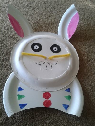 Paper plates are cheap and versitile. Hereu0027s an easy craft for Easter to create your own paper plate bunny rabbit. & Paper Plate Bunny - My Kid Craft