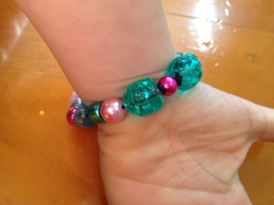 toddler bracelet, preschooler bracelet, kids bracelet, pretty beads on wrist