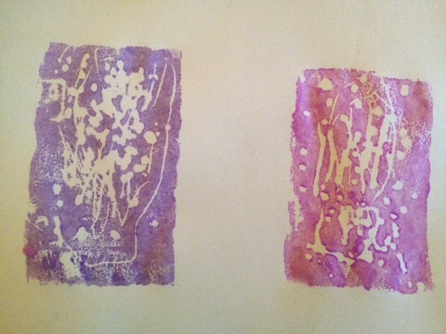 toddler printmaking, toddler homemade cards, printing with styrofoam trays