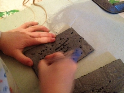 toddler stencil printmaking, styrofoam tray printing toddlers