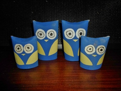 toilet paper roll, owl family, craft, kids