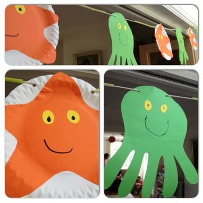 Under the sea, party, bunting, starfish, octopus