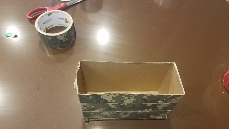 Use duct tape to reinforce box.
