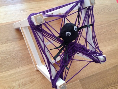 Web weaving, chair weaving, kids weaving, spider web craft