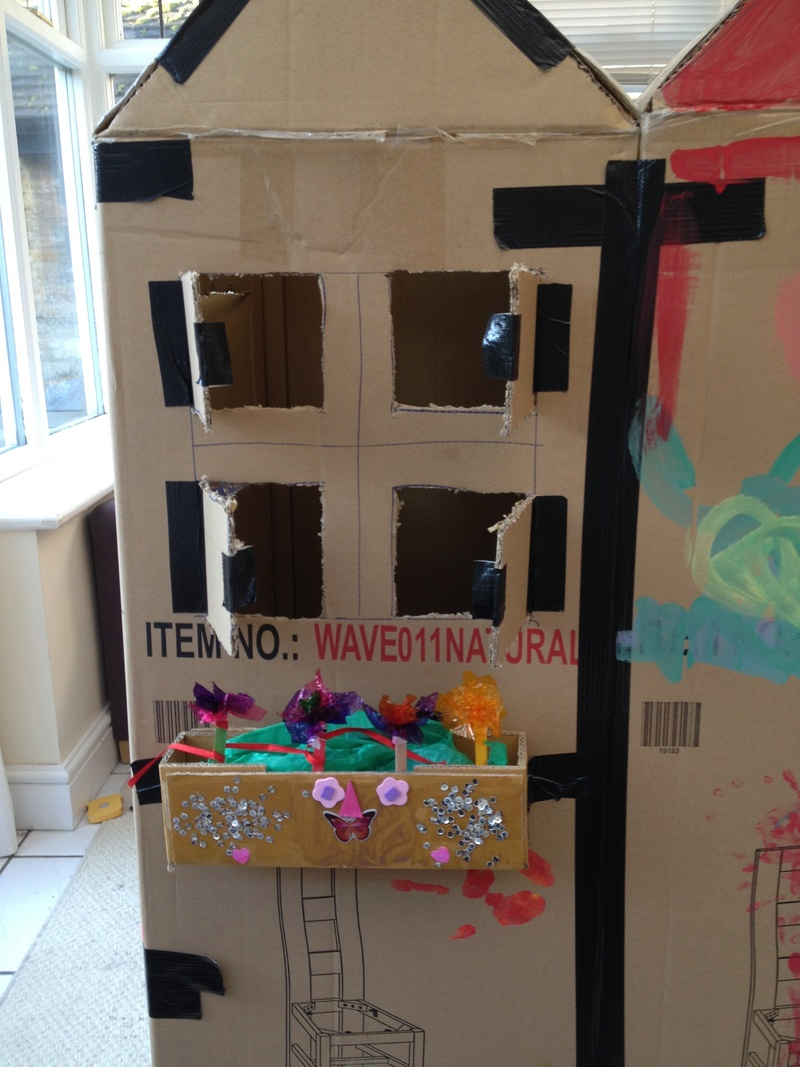 Window box, recycled, kids, summer