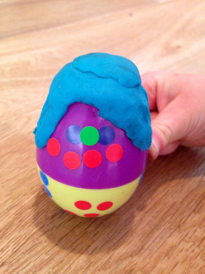 wobble, fillable egg crafts, kinder egg craft ideas