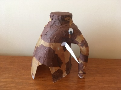 woolly mammoth milk bottle craft