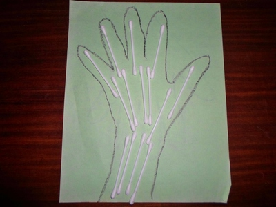 x-ray hand craft, skeleton hand craft