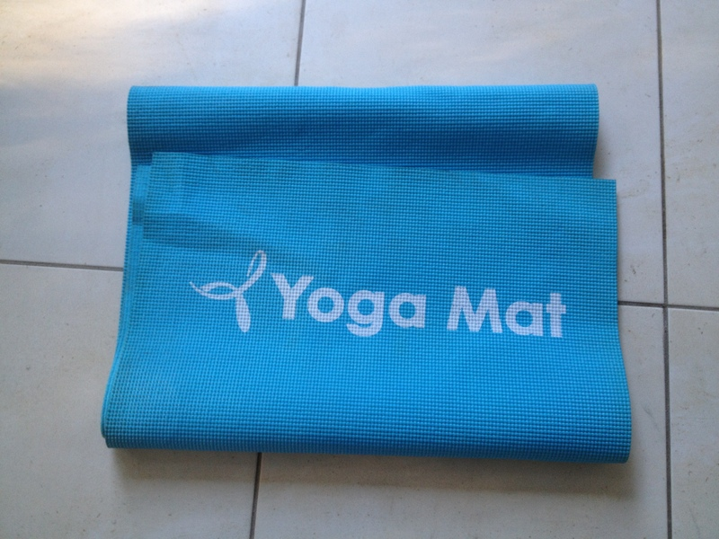 yoga mat, recycled craft
