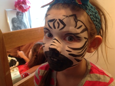 Zebra, Face paint