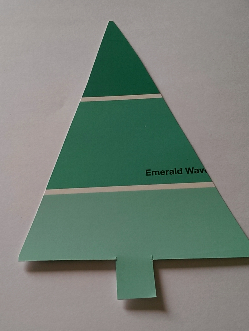 Paint Sample Christmas Tree Cards
