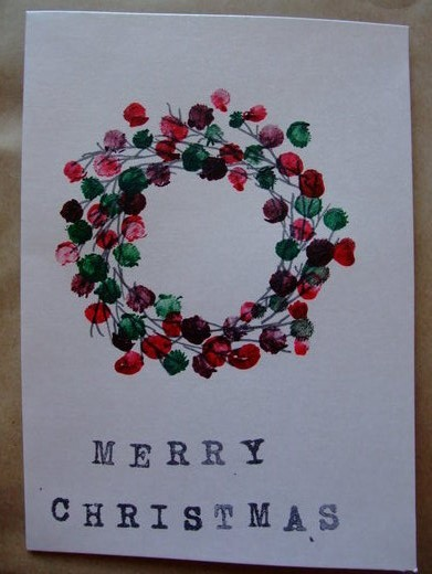 Pinky Fingerprint Christmas Wreath
