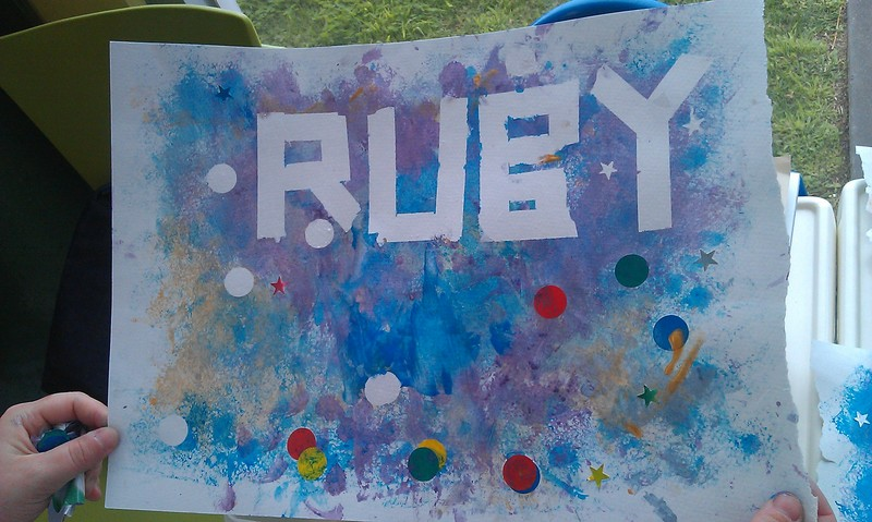 Painted Personalised Name Art