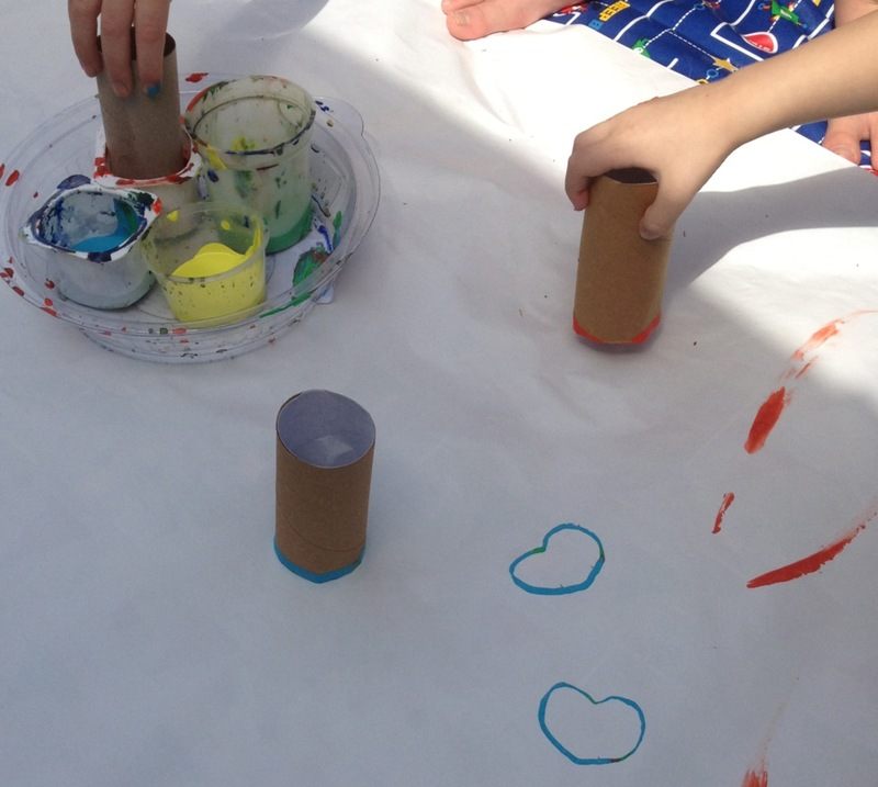 Toilet Roll Stamp Painting