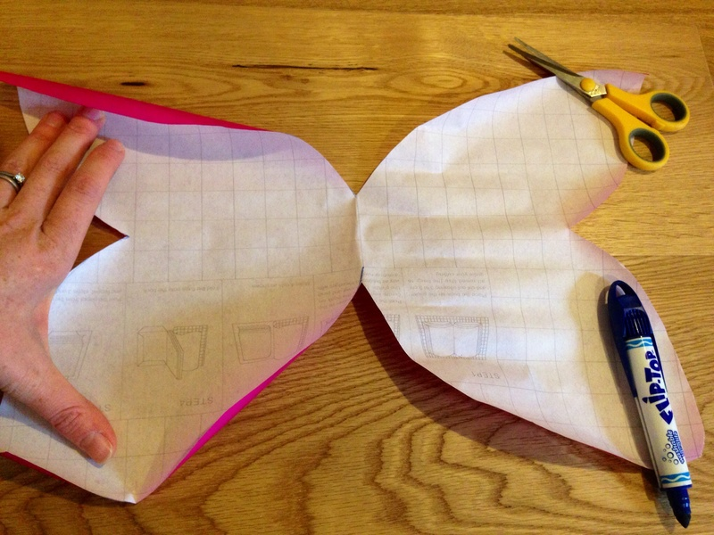 Sticky plastic, pink contact paper, pink book covering  - Dress Up Butterfly Wings