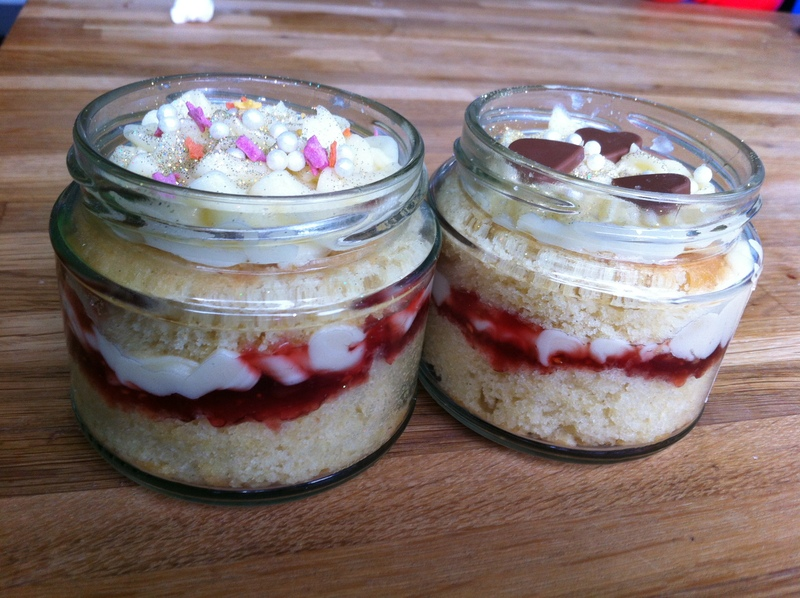 Cake, present, post able, treat, jar, mother's day, birthday, Valentine's day, all ages, quick, edible gifts