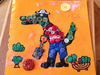button craft ideas for kids colourful buttons collage my kid craft 5976