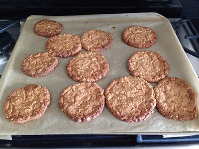Cookies ready to decorate, oat cookies, oaty biscuits