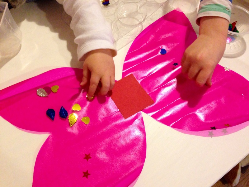 Sticky plastic, pink contact paper, pink book covering