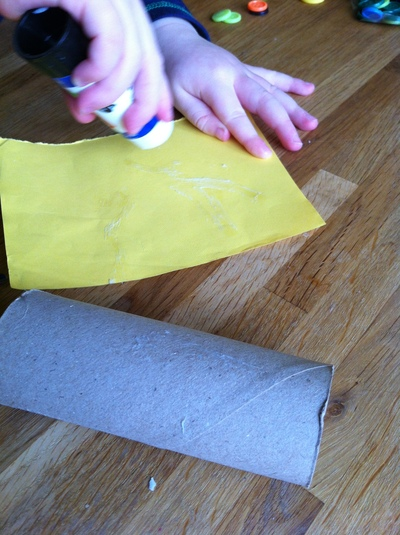 Easter, chick, mini eggs, toilet roll, paper craft