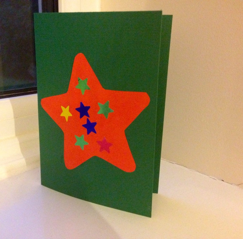 Easy greeting card for kids, homemade card  - Quick and Easy Star Card