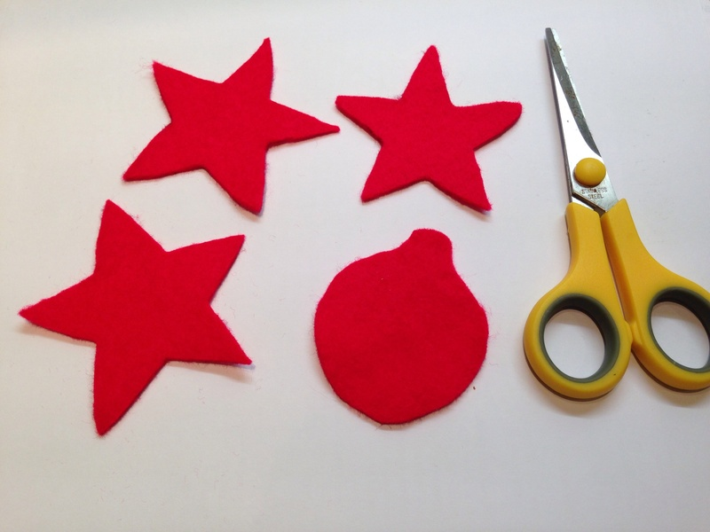 Felt shapes, homemade Christmas baubles  - Quick and Easy Christmas Tree Decorations